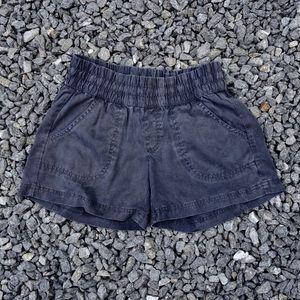 Athleta charcoal gray shorts, size 0